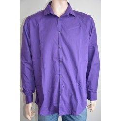Next pánská košile s kravatou, dlouhý rukáv tmavě fialová 42