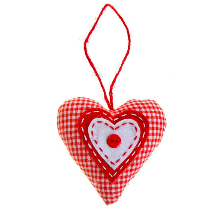 Small Decoration Checkered hearts. Buy now here http://www.smallthings.gr/shop/living-room-2/xmas-decoration-hearts-set-of-4/#.VL-pmy53AxI