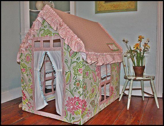 Custom Posh Playhouse with Amy Butler Fabric by careytrudeau