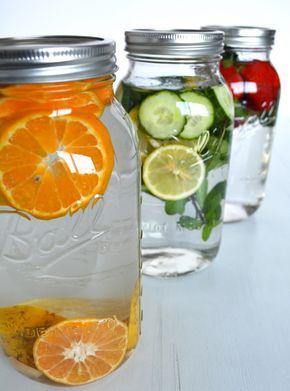 Aguas Detox de Sabores ideales para bajar de peso, mantenerte hidratado y claro, están deliciosas!!! #detoxwater #healthy