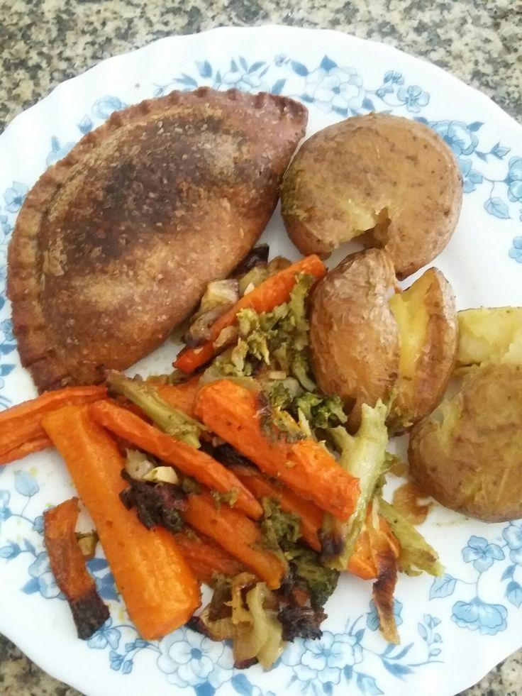 Samosa com legumes assados