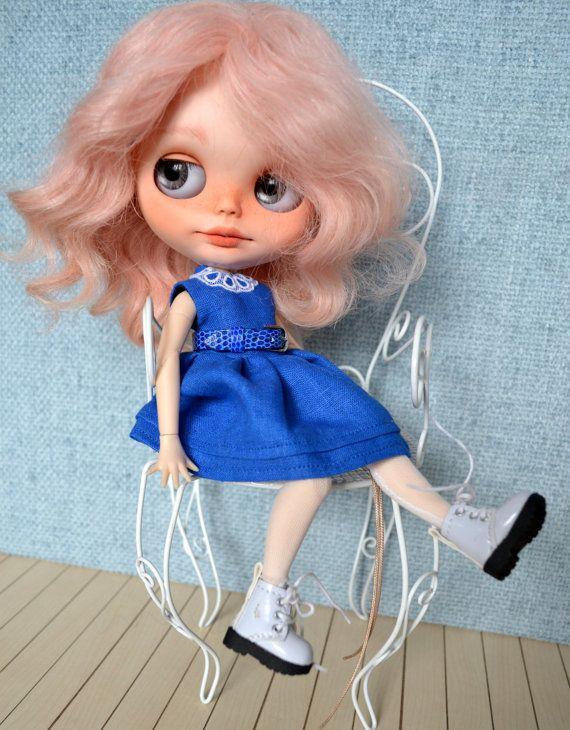 Ručně šité bavlněné šaty pro Blythe a Pullip oblečení by CARLXYDOLLS