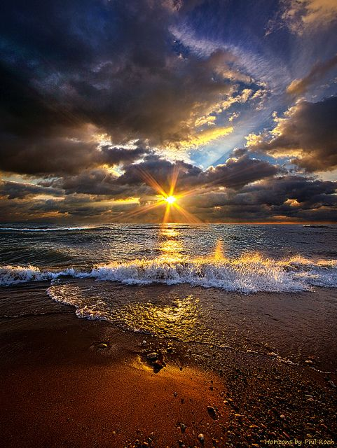 ~~Ebb and Flow ~ spectacular sky and dramatic ocean by ...