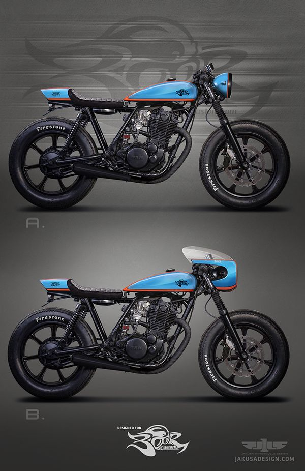 Yamaha SR500 for Boor Custom by Tamás Jakus