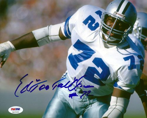 "Ed """"Too Tall"""" Jones Autographed 8x10 Photo Dallas Cowboys PSA/DNA ITP Stock"