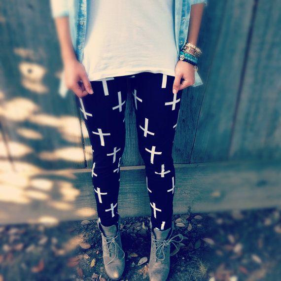 Inverted Cross leggings by NewSpiritVintage on Etsy, $29.00