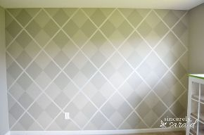 painted argyle wall, bedroom ideas, home decor, how to, painting, wall decor