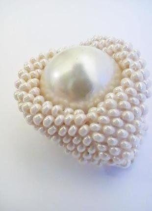 À vendre sur #vintedfrance ! http://www.vinted.fr/accessoires/bagues/29591336-bague-tissee-de-perles-de-couleur-ecru