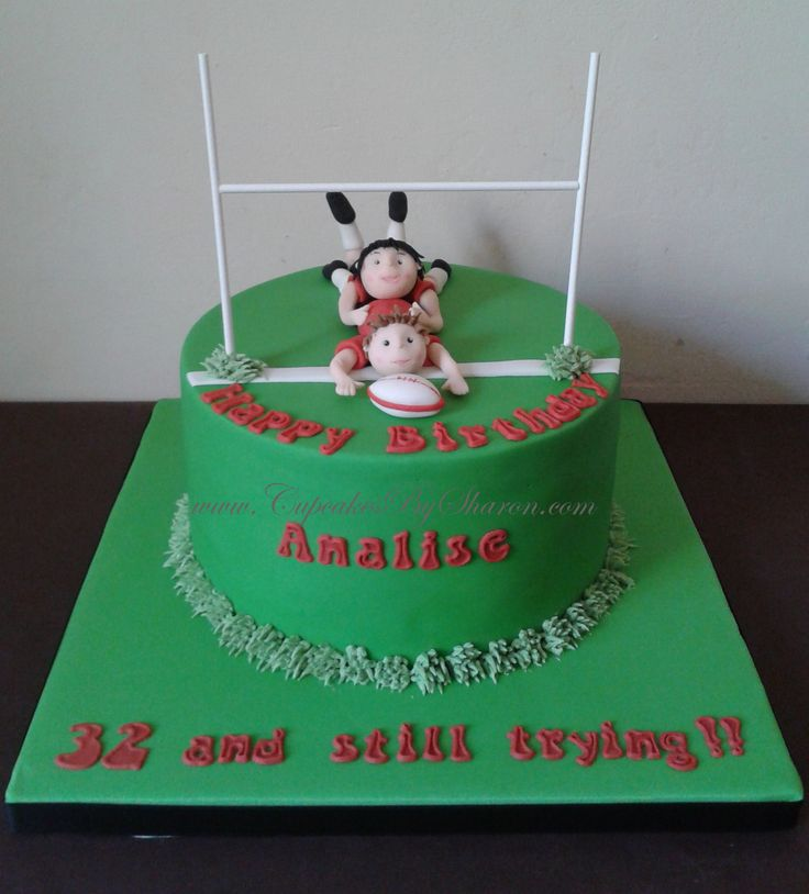 Pictures Of Rugby Birthday Cakes