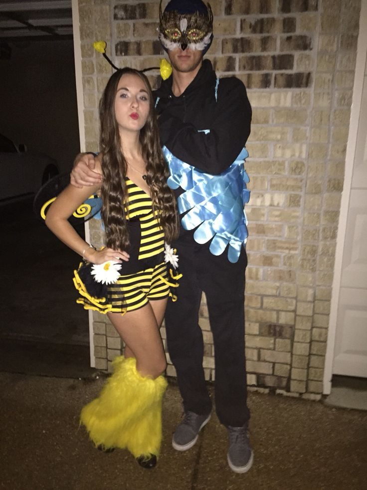 couple costumes ideas birds u0026 the bees very funny and a very easy costume to wear for a halloween college party or just for a costume party halloween