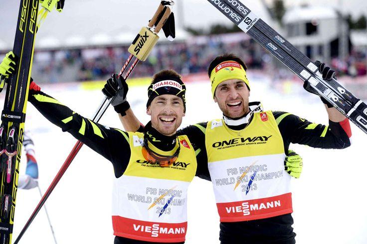 François Braud et Jason Lamy-Chappuis (à droite) ont été sacrés champions du monde de sprint du combiné nordique samedi 28 février à Falun (Suède), lors des Mondiaux de ski nordique. Ce dernier, l'un des plus grands sportifs français de ces dernières années, en a profité pour annoncer qu'il mettait un terme à sa carrière.