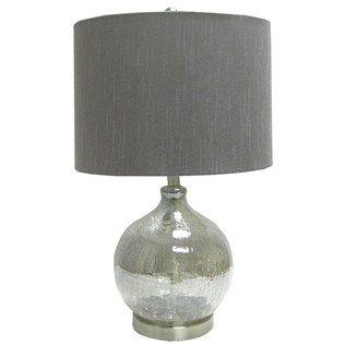 Superior Smokey Crackle Glass Lamp With Gray Shade | Shop Hobby Lobby