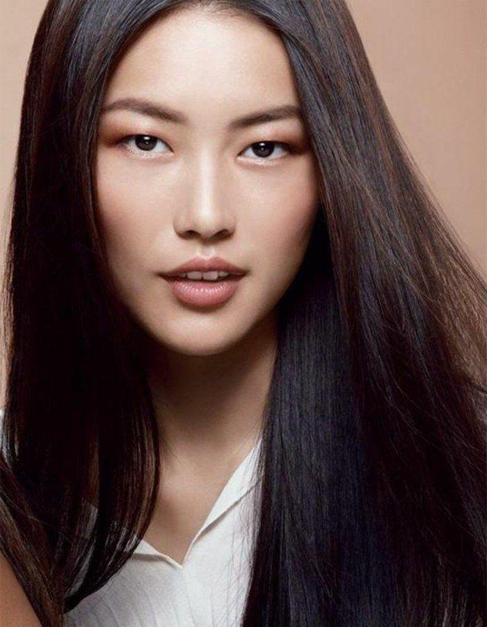 comment bien maquiller ses yeux bridés cheveux chatin couleur marron idee couleur de cheveuc