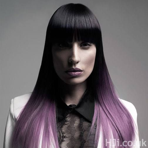 Perfect purple ombre! #longhair #ombre #hairstyle #haircolor #purple
