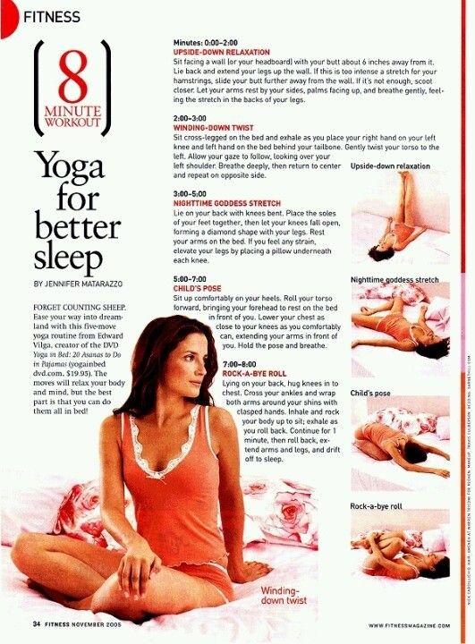 8 min Yoga for better sleep