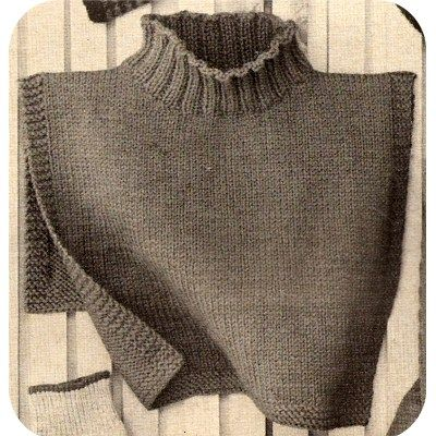 Misses Knitted Dickey Pdf Pattern Vintage 1960s Crafts