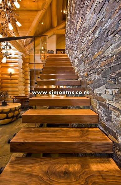 Stepenice u domu - Page 8 Bc819e9e8b83729d40b412b60a4e7df5--floating-staircase-rustic-staircase