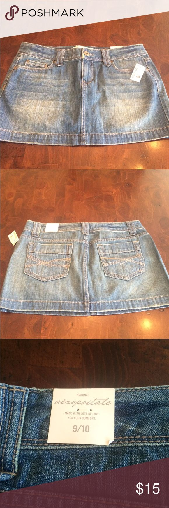 NWT 👍 Aeropostale Denim Skirt Perfect Condition - never worn (tags attached, as pictured). Denim skirt (in my opinion short/mini skirt).  Juniors Size 9/10. Aeropostale Skirts Mini