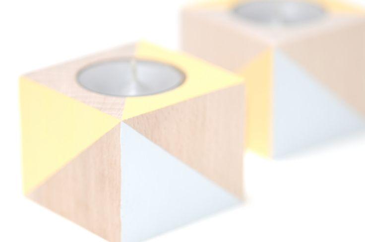Teelicht Teelichthalter Kerze Kerzenständer Holz Buchenholz Buche Tischdekoration Dekoration Wohndekor Wohnzimmer Tisch Kerzenlicht von Filzdesign auf Etsy