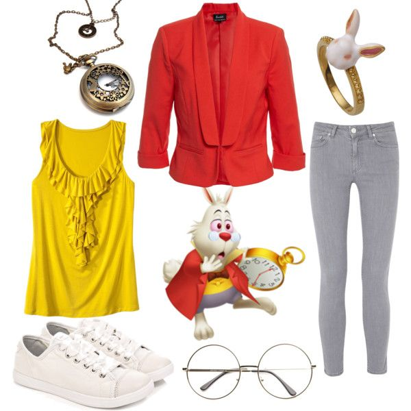 White Rabbit, Alice In Wonderland by jboothyy on Polyvore featuring Merona, Bardot, Acne Studios and DKNY