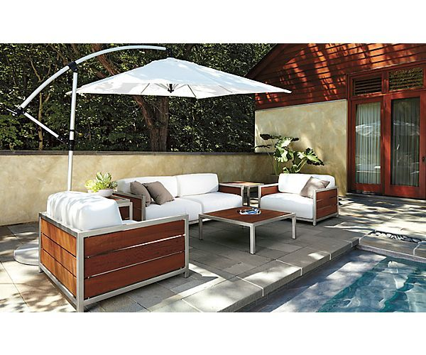 Montego Cocktail Table   Montego Chairs In Stainless Steel With Cushions    Outdoor   Room Board