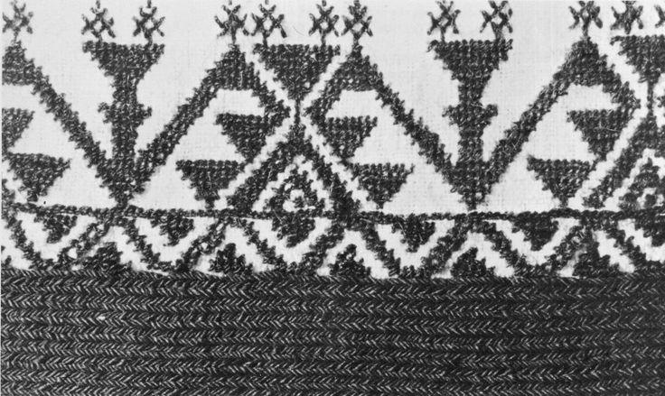 Costume of the Sarakatsani or Karakachani, Greece poukomiso embroidery
