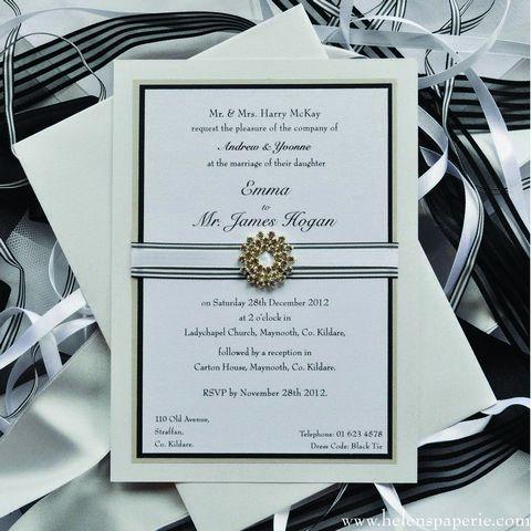 B/W Classic Invitation