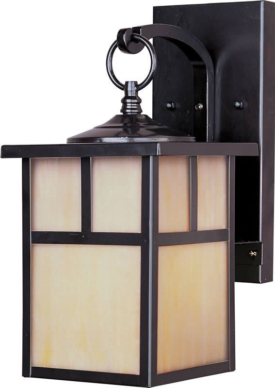 Craftsman Aluminum is a traditional, craftsman/mission style collection from Maxim Lighting International in three finishes, Acid Verde, Burnished or Pewter, with Honey glass. - Burnished Finish - Fea                                                                                                                                                                                 More