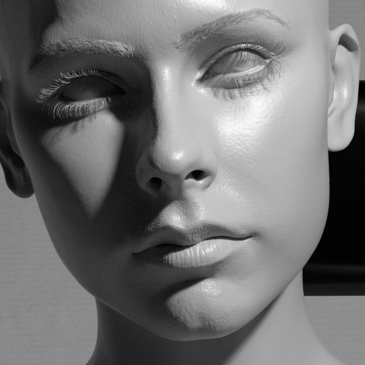 ArtStation - Grey Girl, Jerome Hartman