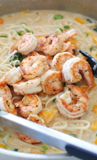 One-Pan Coconut Shrimp Noodle Bowls this is really good and fast and easy to do !!!