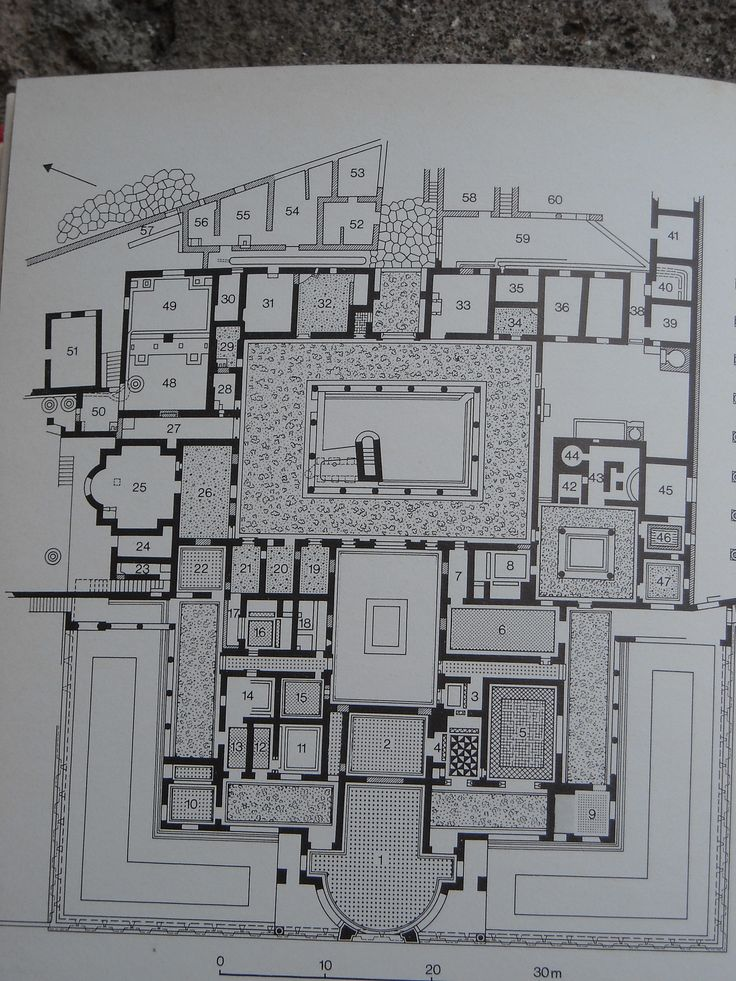 Plan of the Villa of the Mysteries at Pompeii