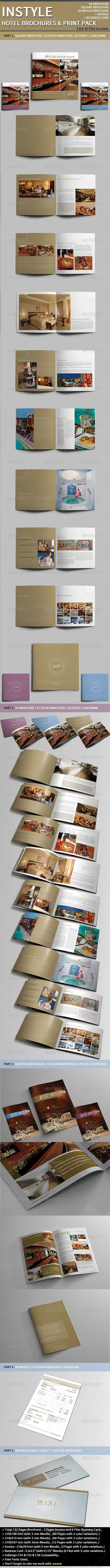 InStyle Hotel Print Pack.. - Corporate Brochures