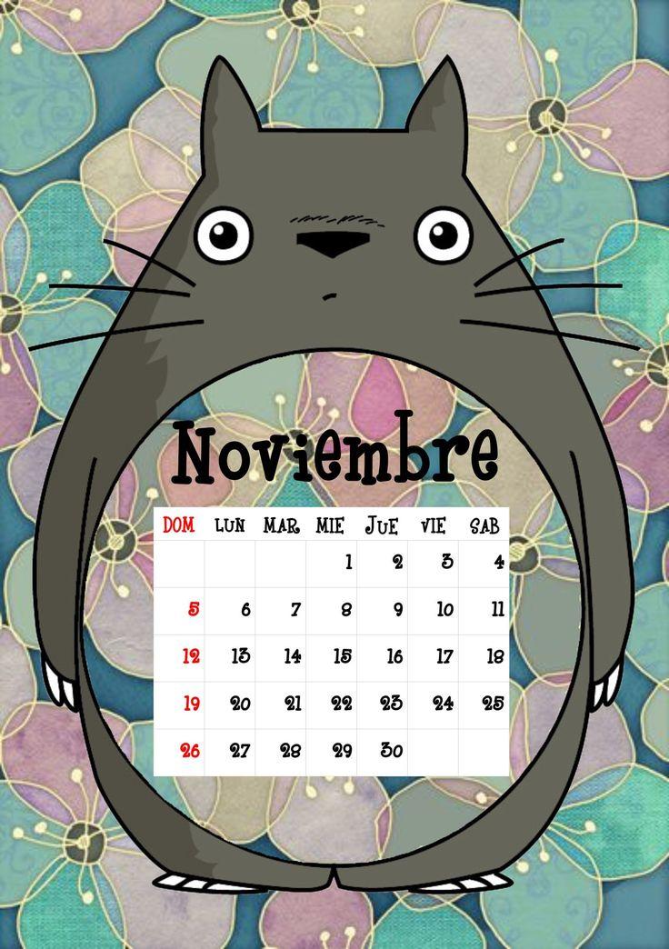 Calendario Totoro 2017 ♦ Noviembre ♦