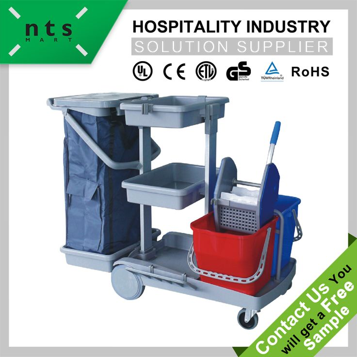 plastic hall cleaning mop bucket trolley