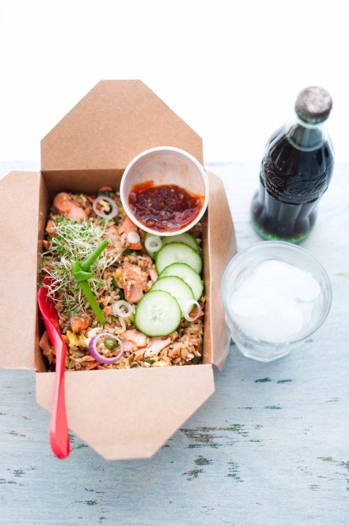 Salmon Fried Rice | Kiran Tarun