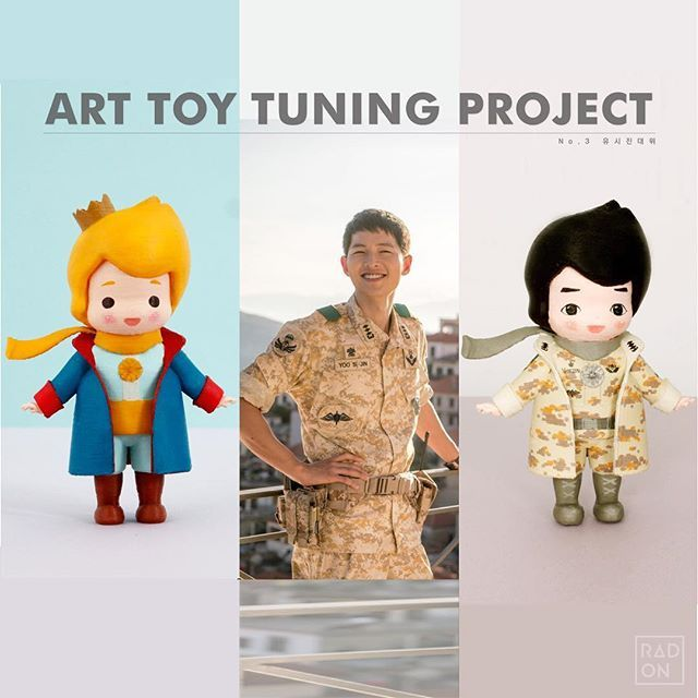 The little Prince of military style ;D Yoyoyoyoyoyo it is so adorable xxxxxx Of course you can tune the color of ArtTOY, if you want♡ Lovely Art Toy Coloring Kit from RADON. Please contact us through RADON homepage ;) #Arttoy #3Dprinting #DIY #Coloring #3D #project #littleprince #RADON #Hobby #Alice #Redhood #cute #color #songjungki #jungki #tuning #tune