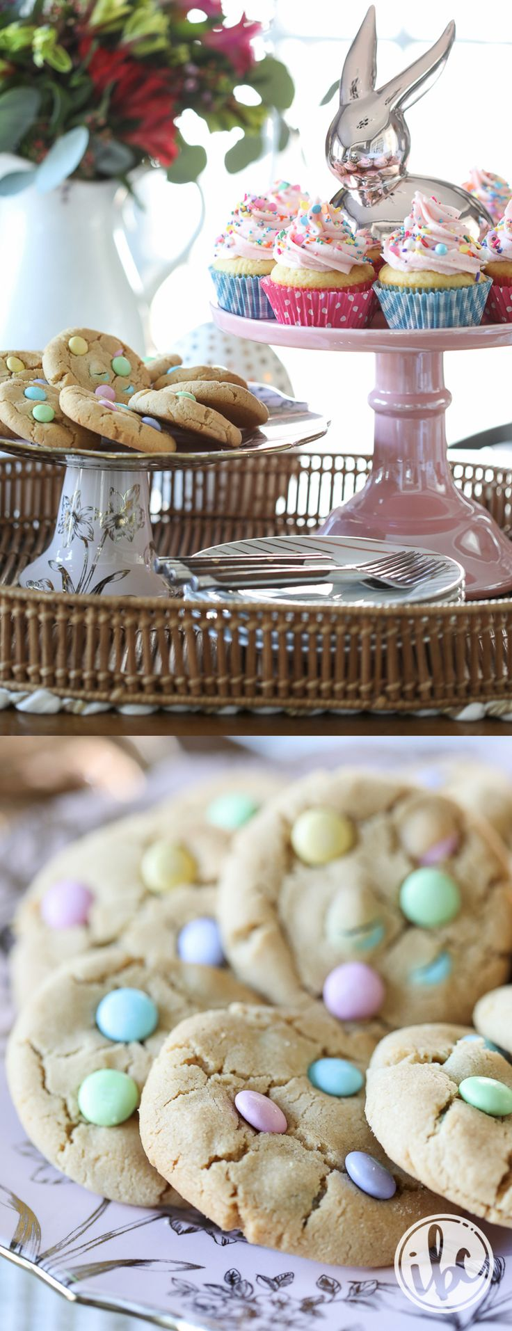 Soft Peanut Butter Cookies for Spring - Easter spring dessert recipes, cookie recipe | Inspired by Charm
