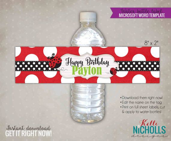 Best Diy Water Bottle Label Stickers Images On