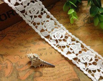 La cinta de algodón blanco  cinta blanca de encaje material de bricolaje recortar la venta en línea
