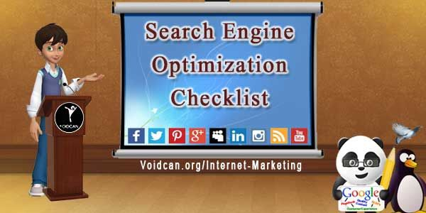 To achieve top ranking in SERPs it is necessary to consider seo right from the start. Here is a seo checklist of the factors that affect your rankings
