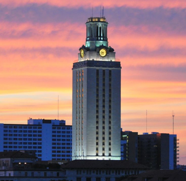 Ut tower at sunset