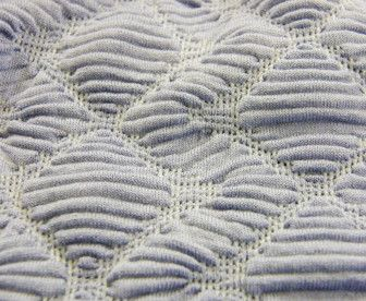 Experimental knit sample with contrasting surface pattern & texture; knitwear design; textiles for fashion // via WGSN