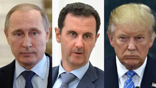 """#Media #Oligarchs #MegaBanks vs #Union #Occupy #BLM #Rojava  A frightening triad: Trump, Putin, Assad   http://www.theglobeandmail.com/opinion/editorials/a-frightening-triad-trump-putin-assad/article32932323/   President Bashar al-Assad of Syria may be right to claim U.S. president-elect Donald Trump as a """"natural ally."""" Mr. al-Assad's fortunes certainly depend on Russian President Vladimir Putin, and Mr. Trump and Mr. Putin appear to have a rapport, even if it is largely based on a shared…"""