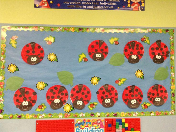 Lady Bug Bulletin Board Spring Cute Craft