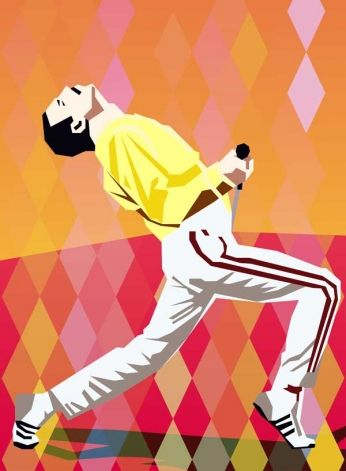 Rock and Roll » Queen » Freddie Mercury - Vector Art :: Old Posters