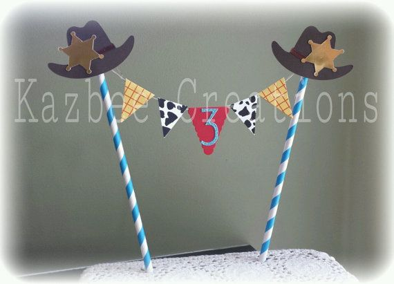TOY STORY Inspired Birthday Cake Bunting. Perfect for you Toy Story theme. Check out this item in my Etsy shop https://www.etsy.com/listing/217521465/toy-story-inspired-cake-topperbunting