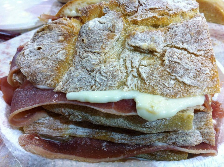 Portuguese smoked ham sandwich with traditional bread - Estrela Mountain