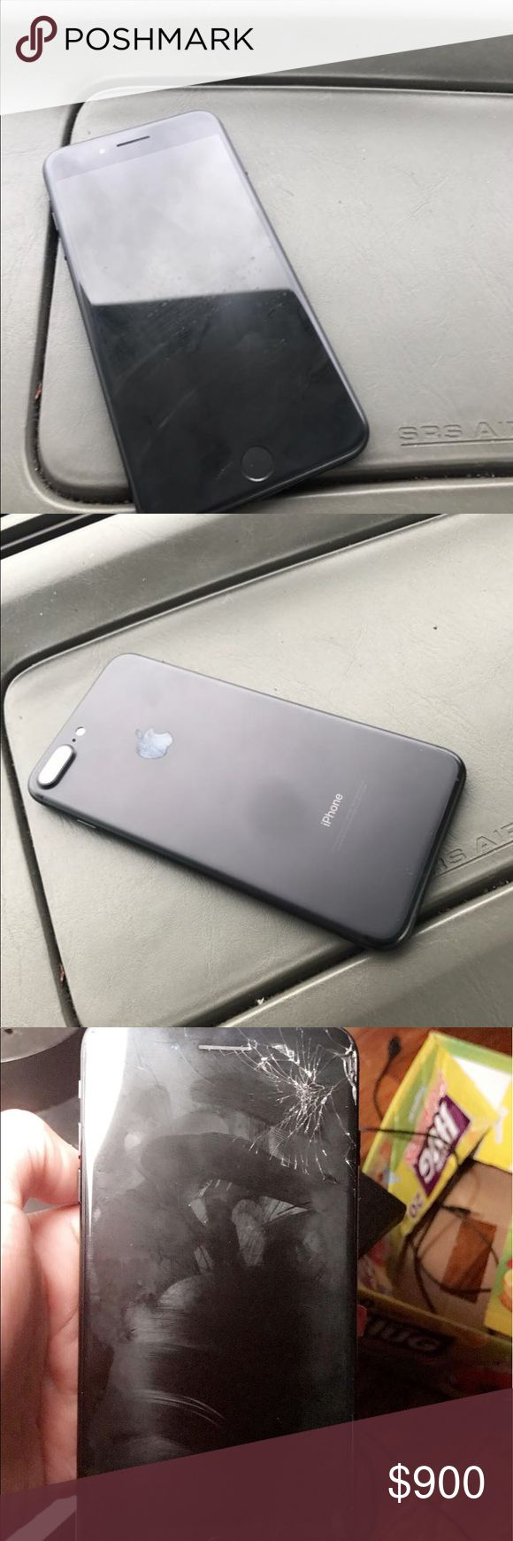 I'm selling two iPhone 7 plus on sprint I have two iPhone 7 plus that 128 one is yet black and the other one is black and the yet black is in good condition and the black it's on fair condition I want $400 for the yet black one and the other $260 Other