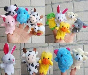 Baby Plush Toy - Finger Puppets, 10 kinds of animals 1€/piece (€10/set)