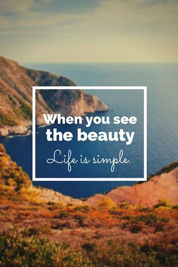 Simpel leven begint bij het zien van alles wat mooi is in ons bestaan: het is er al en je hoeft er niets voor te doen!